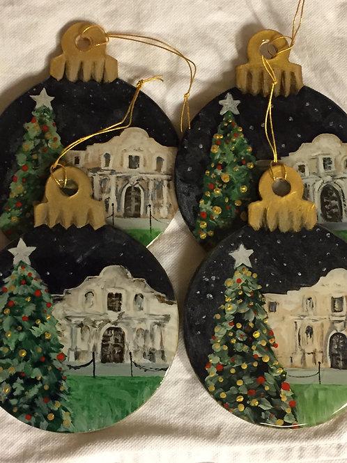 Alamo Christmas Tree ornament