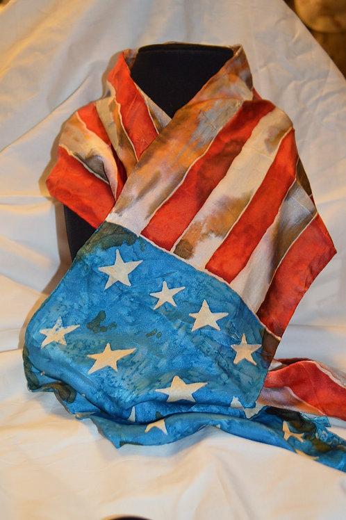US Flag Silk Scarf