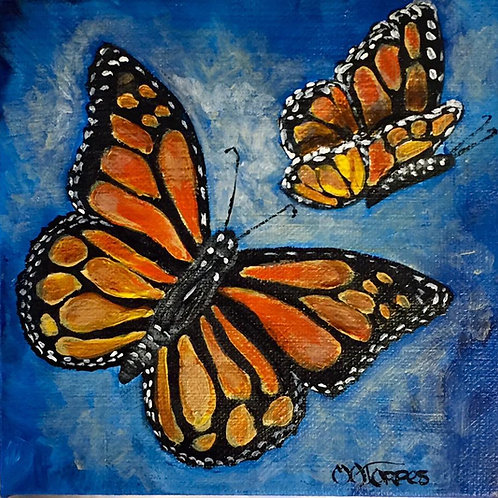 Lovely Couple Acrylic Butterfly painting
