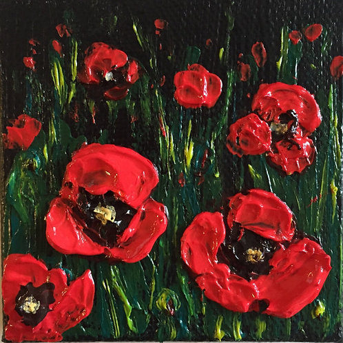 Miniature Red Poppies
