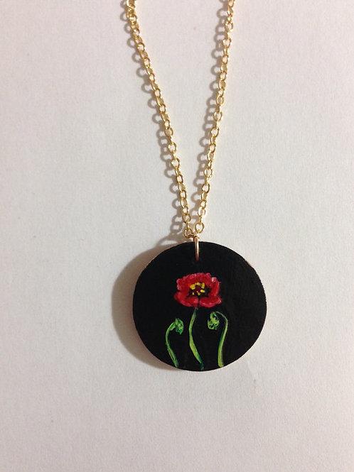 Round Poppy Necklace