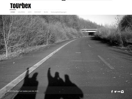 Für die Ewigkeit festgehalten, das erste Look&Feel von www.tourbex.de