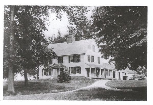 The Governor Hunt House, Vernon Vermont. Historic photo.