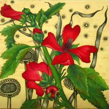 Little Wooden Red Flower