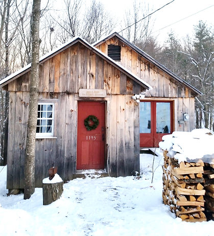 Jason Breen's woodworking studio, winter
