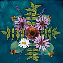 Flower Mandala painting, August