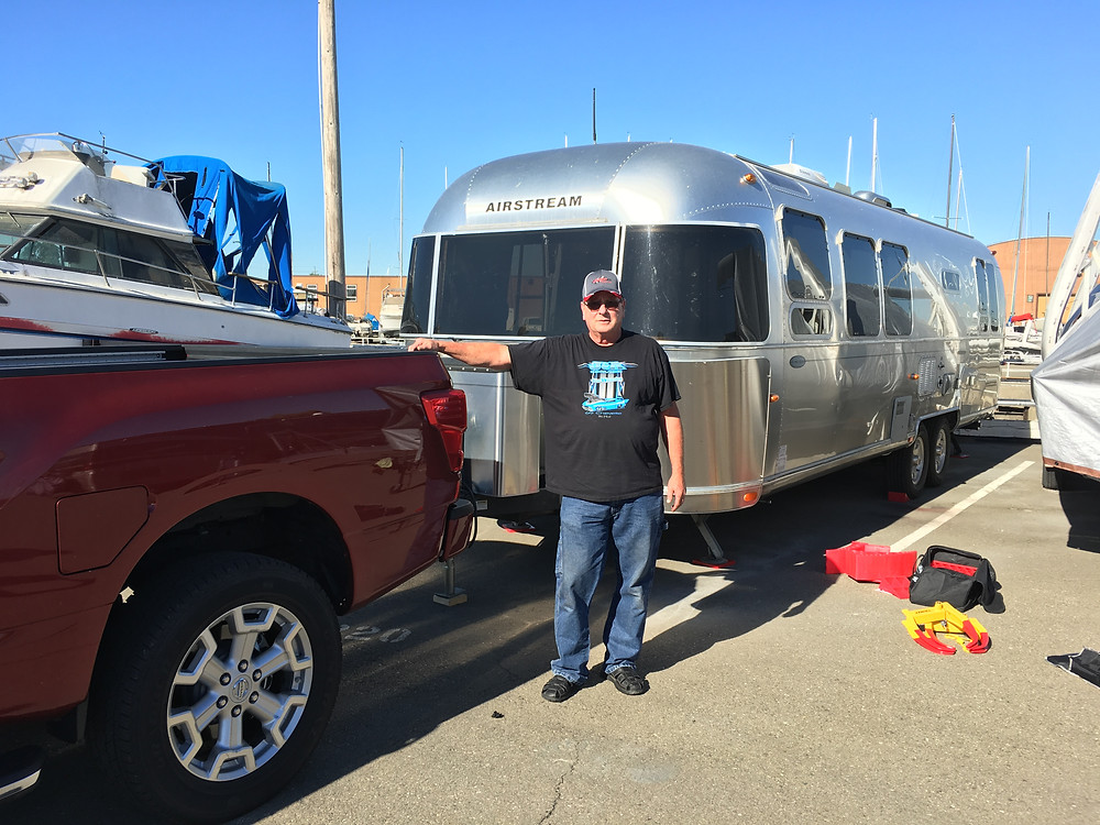 Mike Cantonwine, the driver who transported the trailer from Alpine, Utah to Alameda, CA