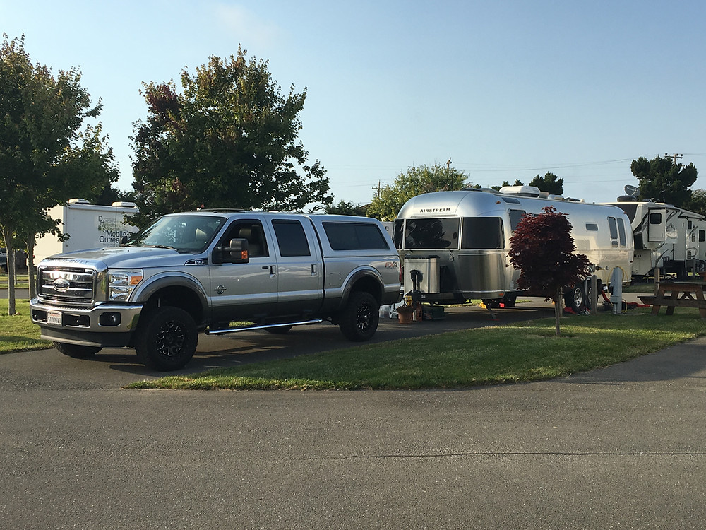 My Airstream and the truck I tow it with.
