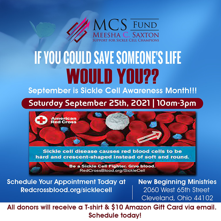 MCS~FUND ANNUAL BLOOD DRIVE