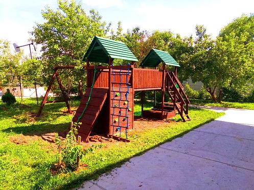 Теремок - Замок комплектация классическая с деревянными крышами