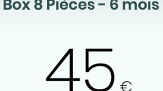 Box 8 Pièces - 6 mois - 45/mois