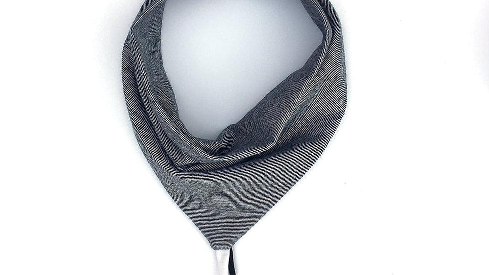 Petit Pote - Bavoir Bandana jersey gris