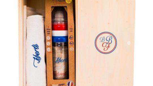 Biberon Français Recyclable - Coffret cadeau - 3 Biberons & bavoir