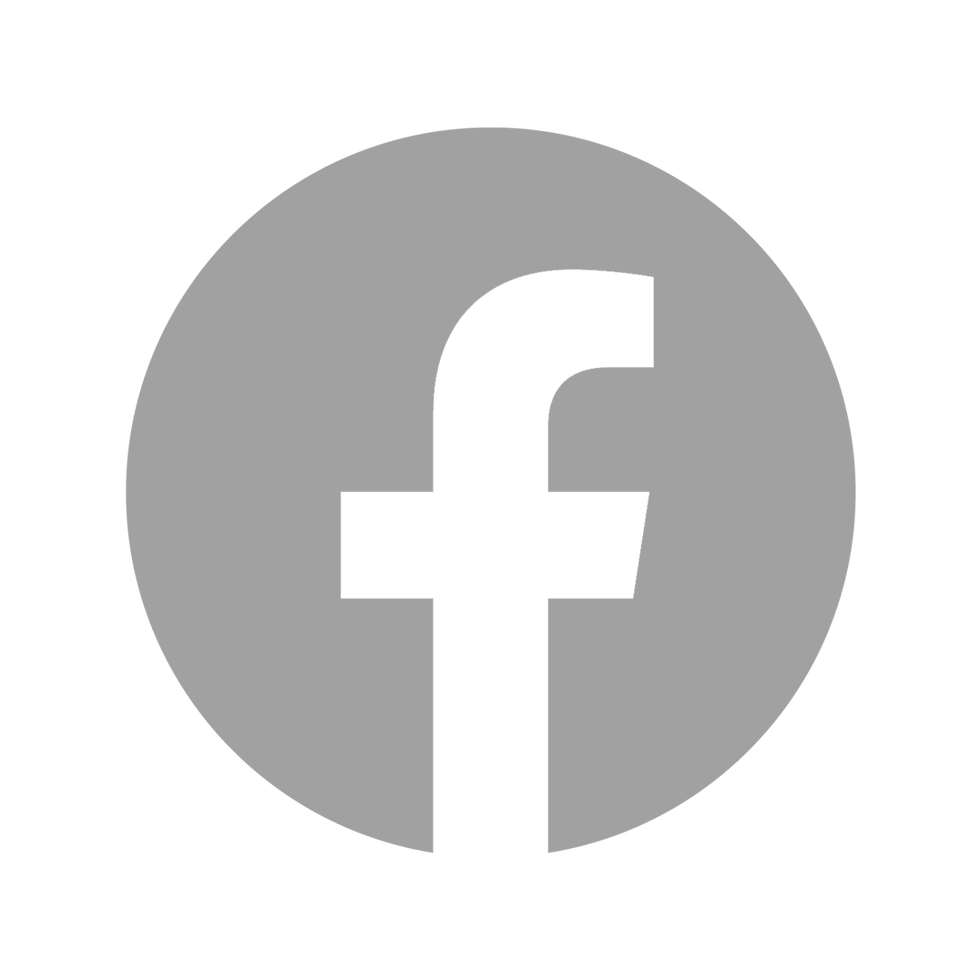 Grey Facebook icon