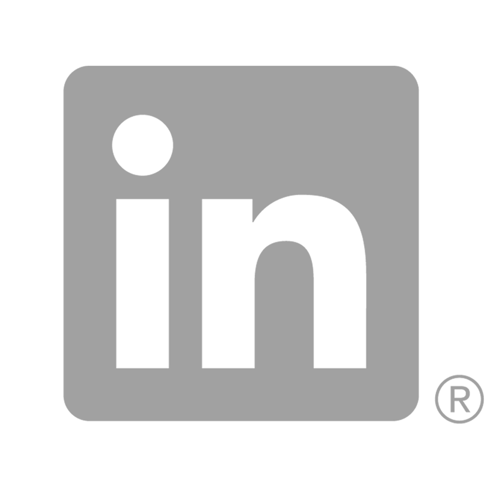 Grey Linkedin icon