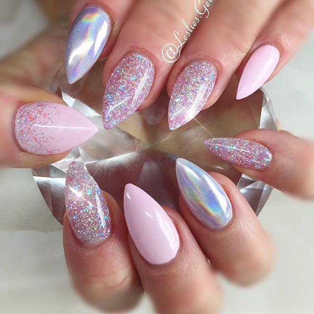 nails designs light pink