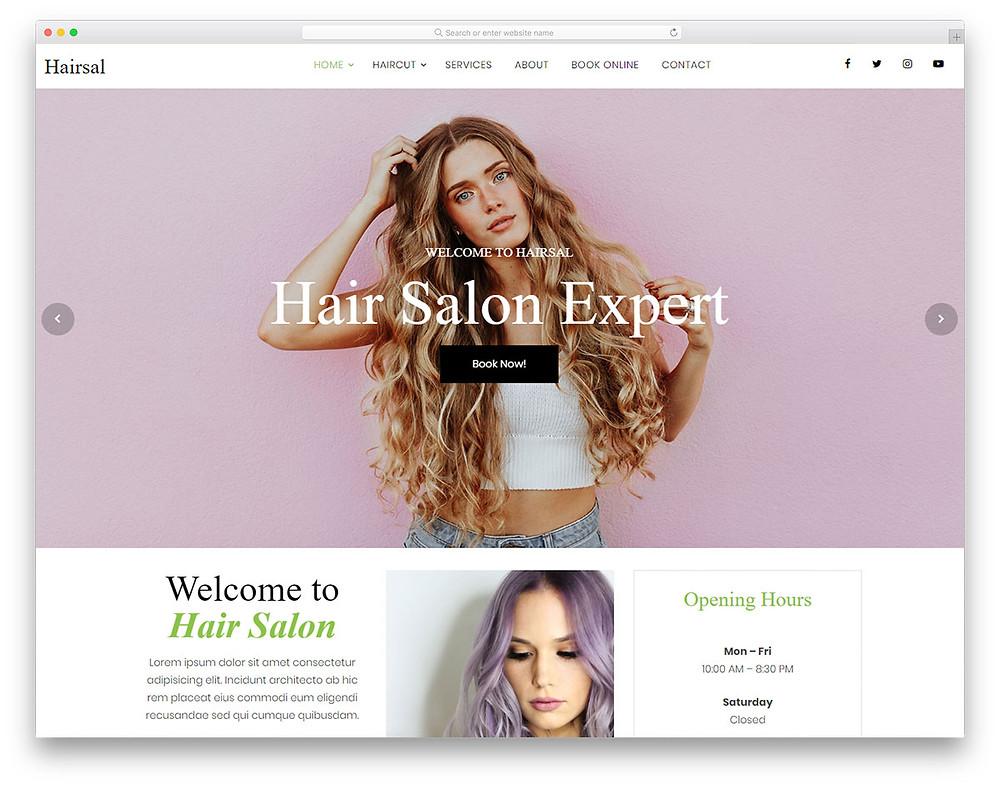 hair salon booking site