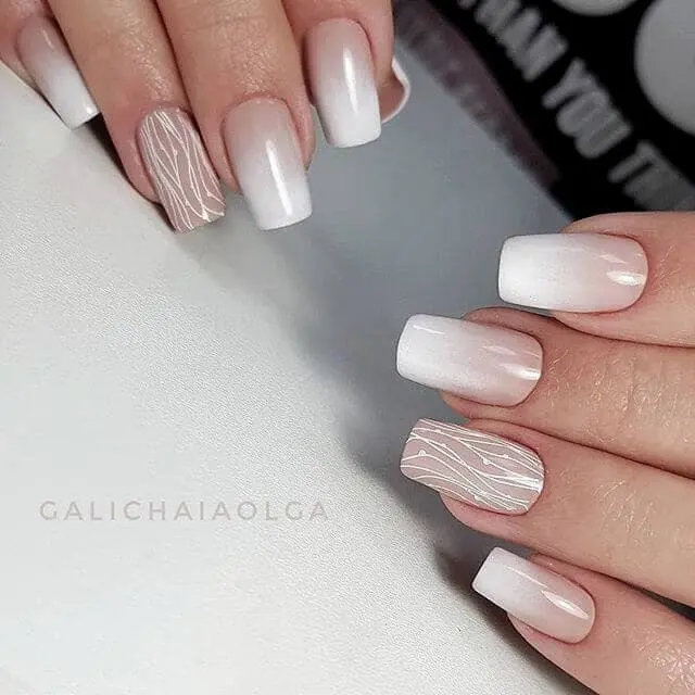 white nails with designs
