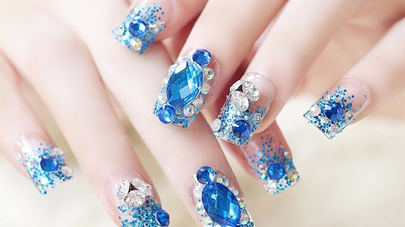 3d nails designs bows