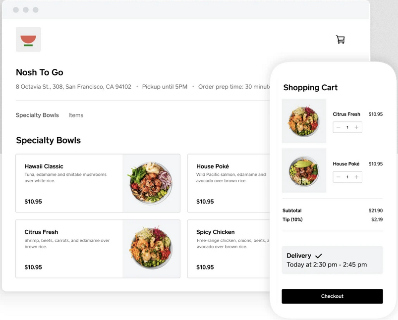 online ordering for restaurants