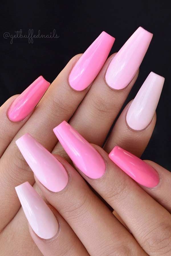 nails designs pink and gold
