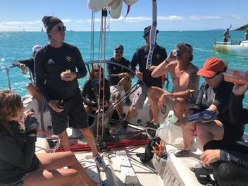 What sailors do after racing