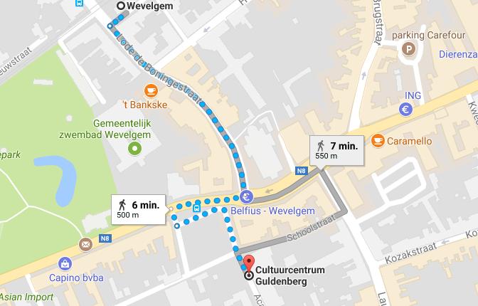 Routebeschrijving openbaar vervoer