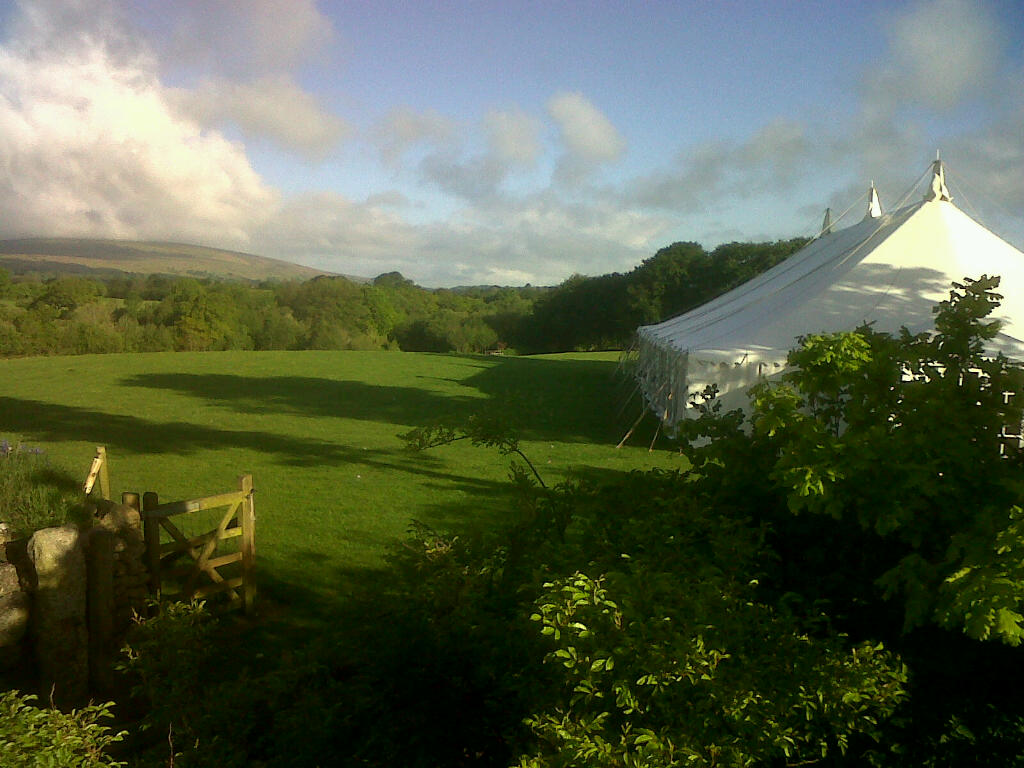 Marquee Early Morning at Monks Withecombe
