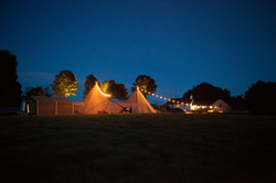 Night time Tipis at Monks Withecombe