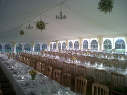 Jo Games flowers for William and Catherine marquee at Monks Withecombe