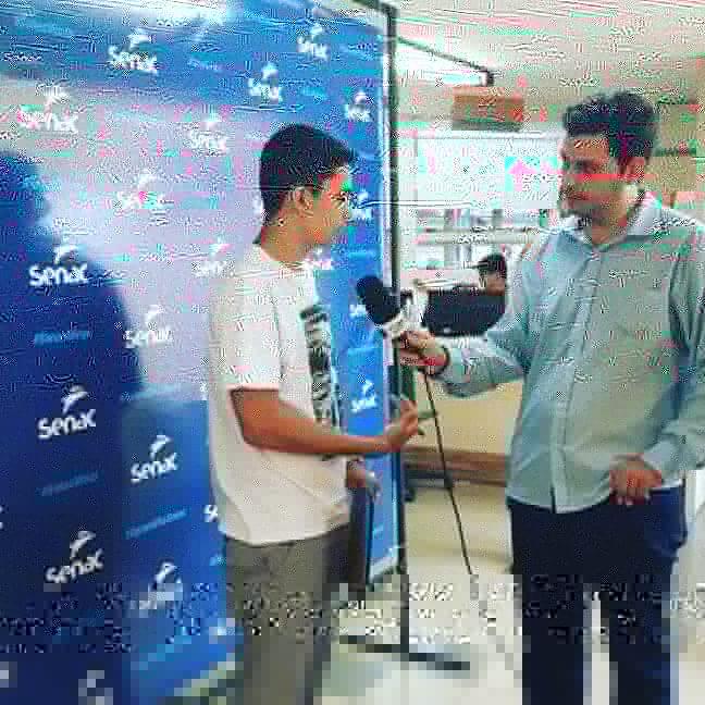 Entrevista no Feirão SENAC.