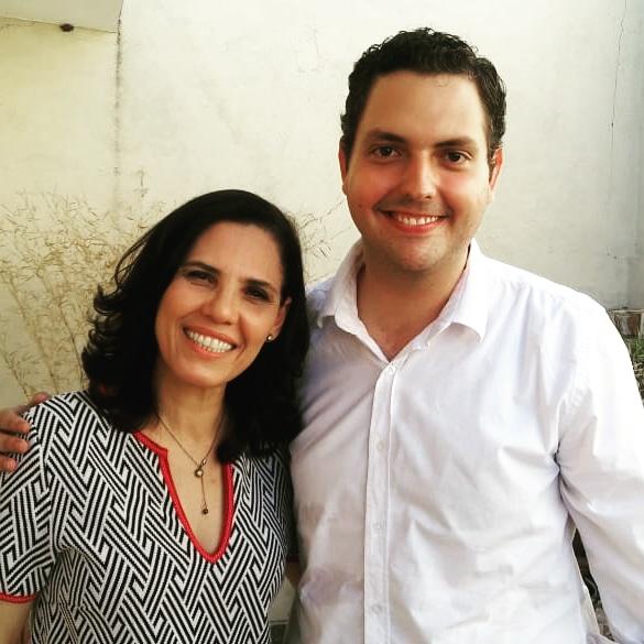 Com a cantora Márcia Tauil (2018).