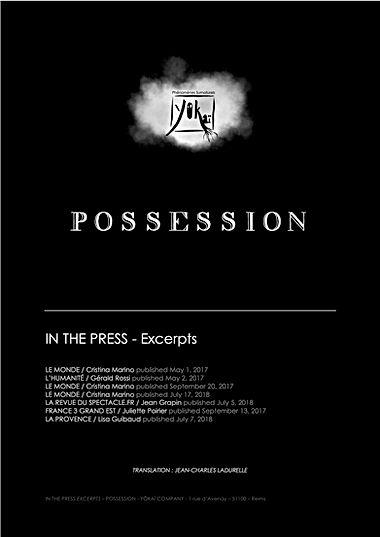 Page de garde extraits- RP POSSESSION EN