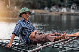 Boatman At Tam Coc