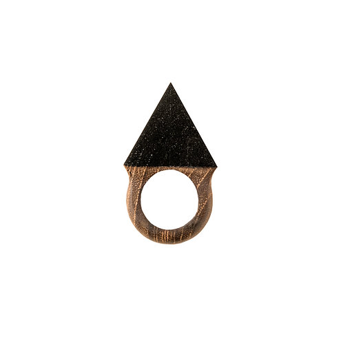 Charcoal Triangle Ring