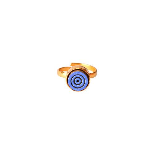 Concentric Indigo Midi Ring