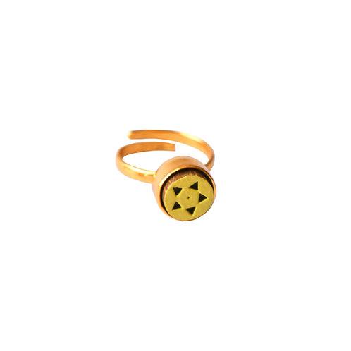 Star Haldi Midi Ring