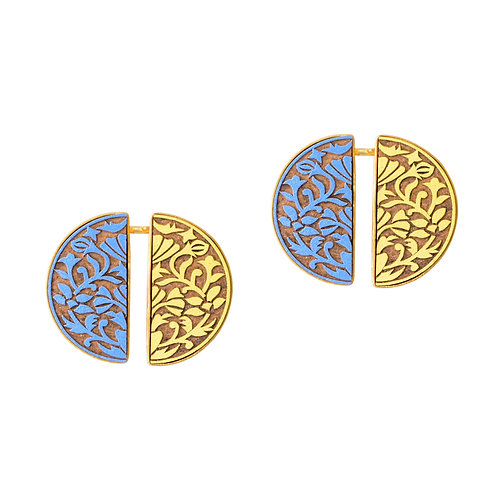 Ashtami Haldi Indigo Earrings