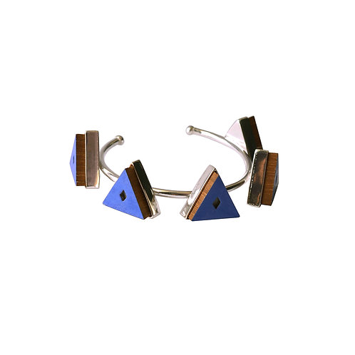 Jodhpur Aztec Indigo Kada ( Open Bangle )