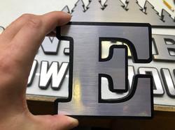 Custom cut letter with vinyl