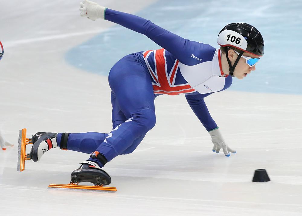 Niall Treacy skating.