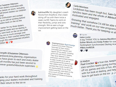 A collection of your thanks to coaches