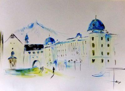 Hofburg Innsbruck 2013, Aquarell