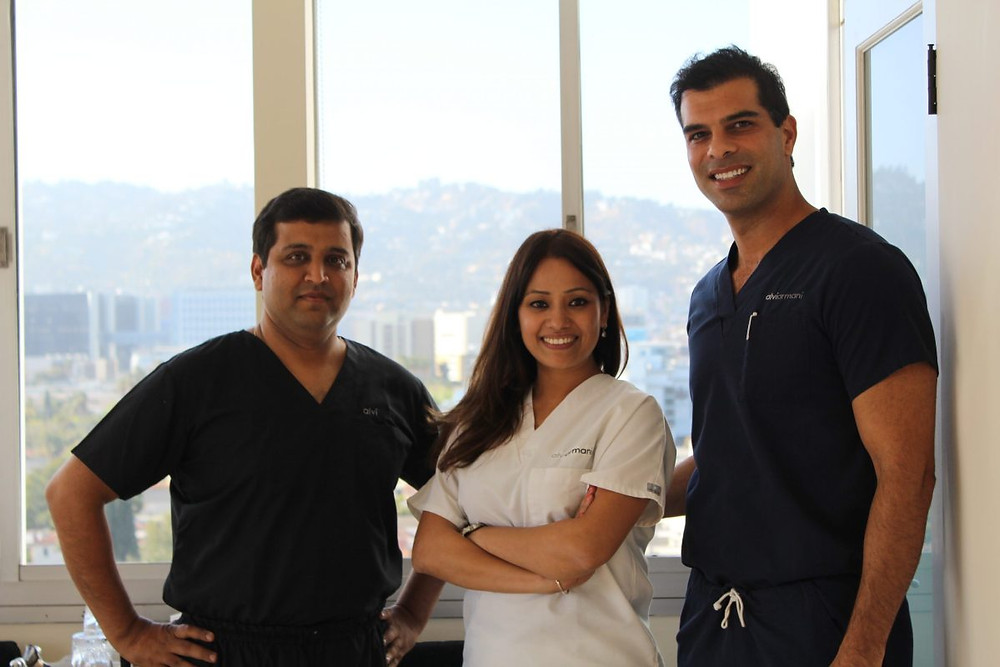 Team Alvi Armani India with Dr.Baubac Hayatovoudi at beverly hills
