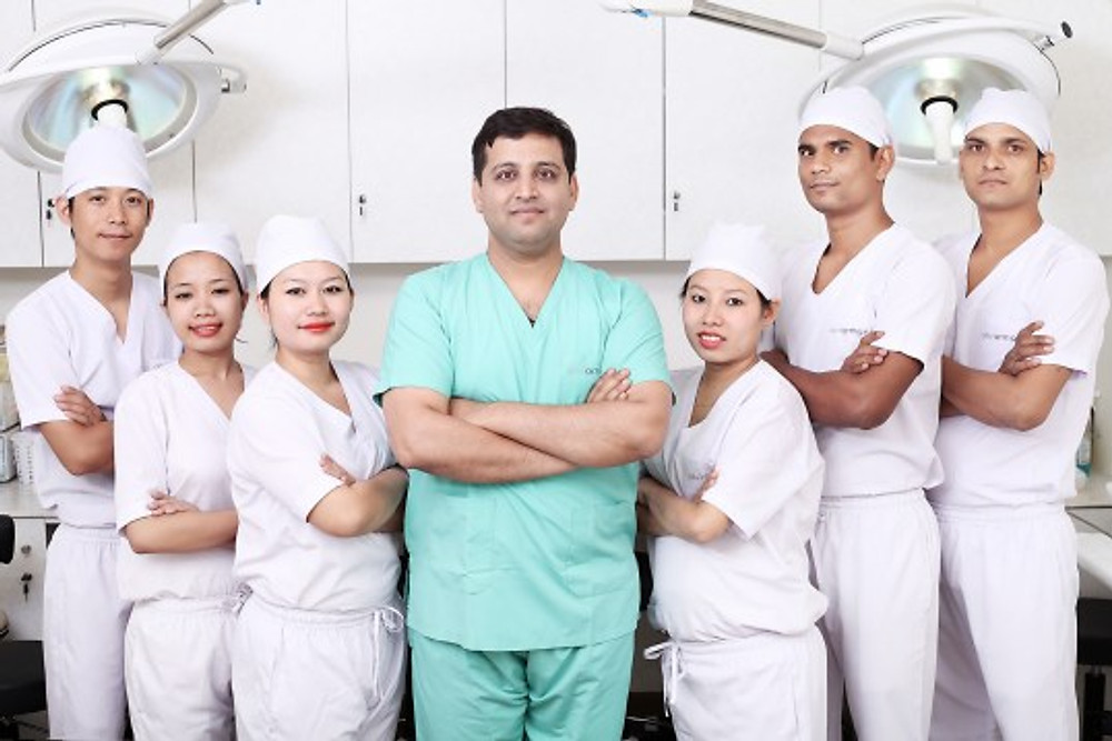 Hair transplant doctor and technician at monaris Hair clinic