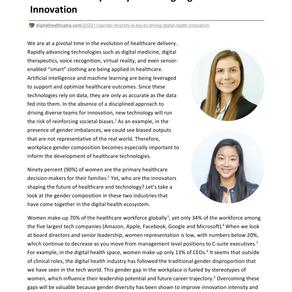Gender Diversity in Driving Digital Health Innovation