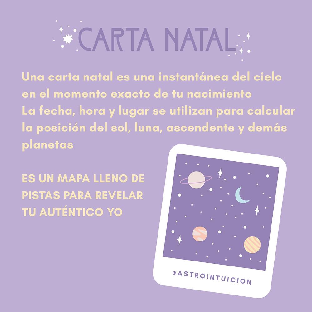 Una carta natal es una instantánea del cielo en el momento exacto de tu nacimiento.