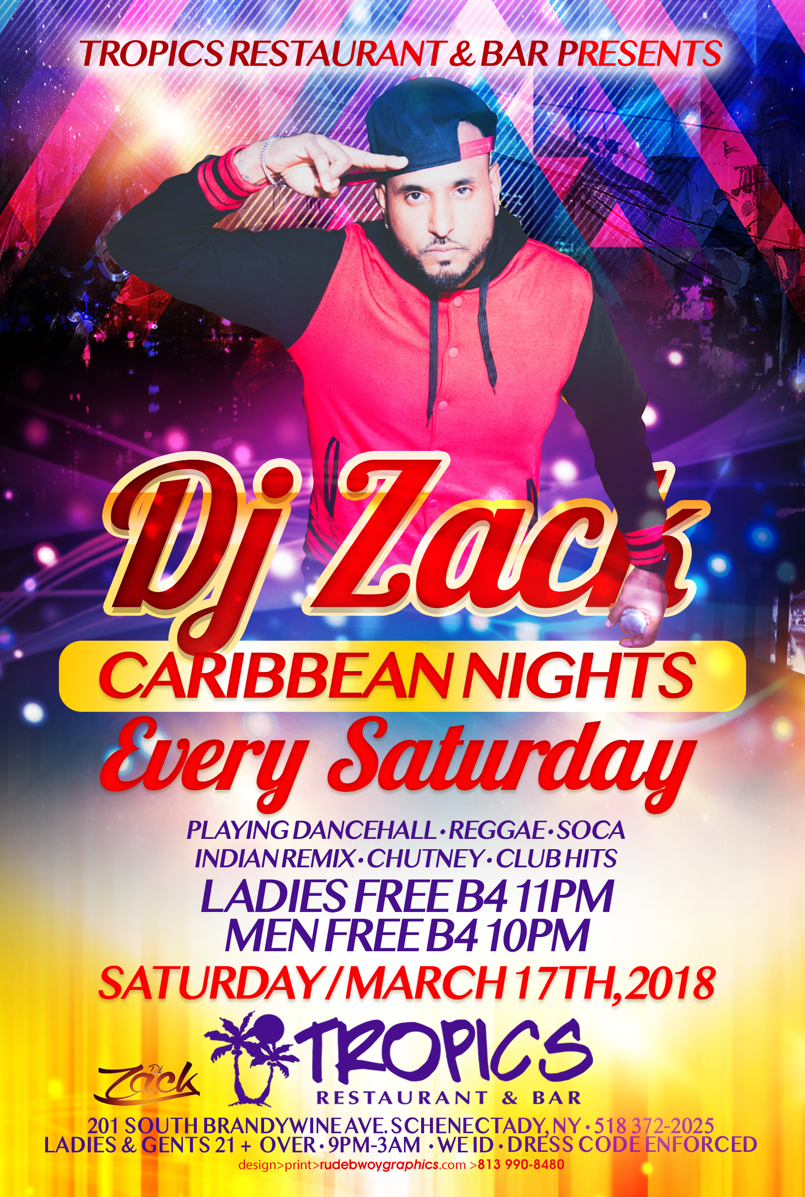 TROPICS DJ ZACK CARIBBEAN NIGHT