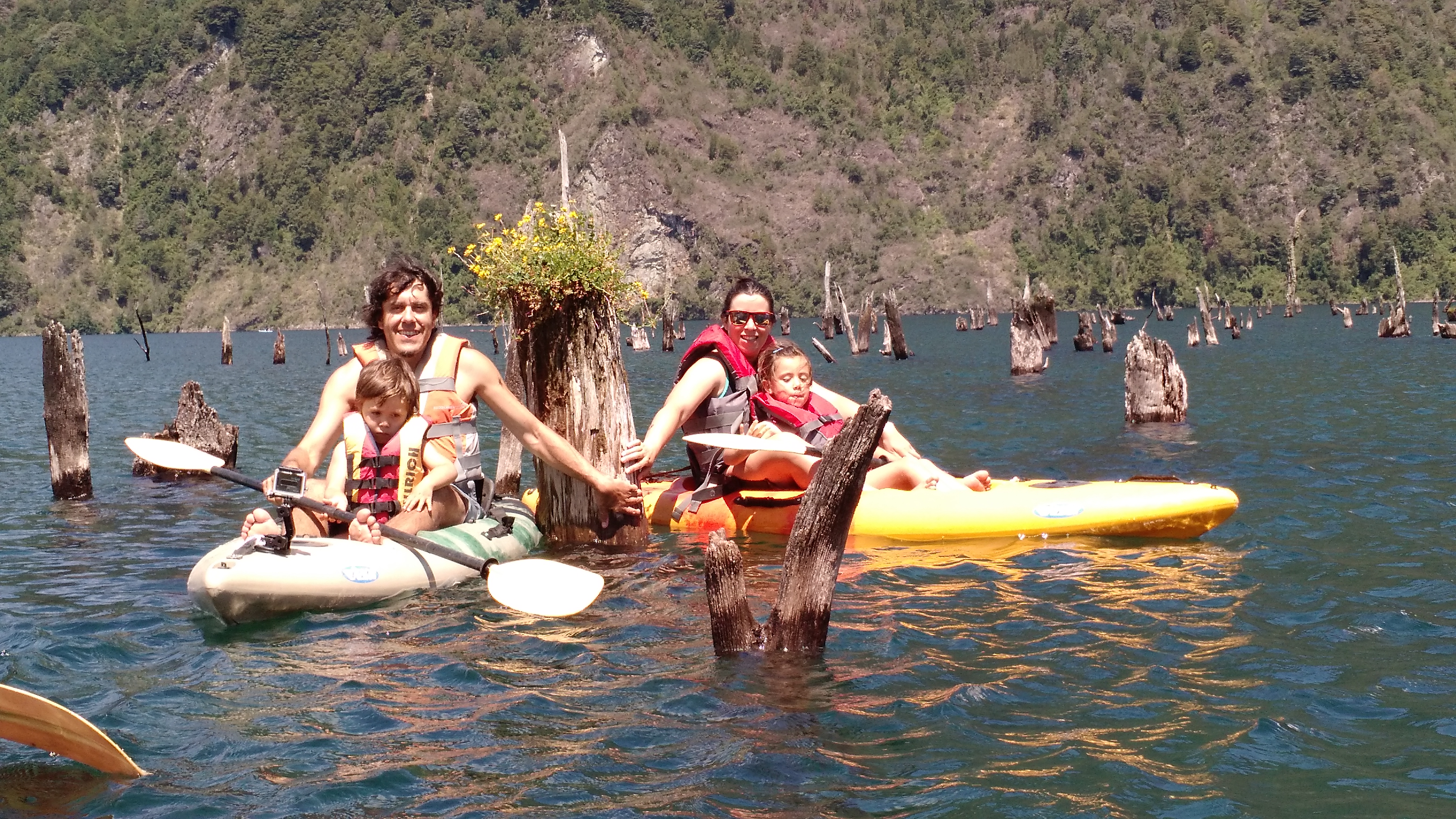 Navegacion familiar en Kayak