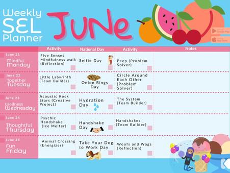 Kikori's June Week 4 Printable Planner is here just for you!